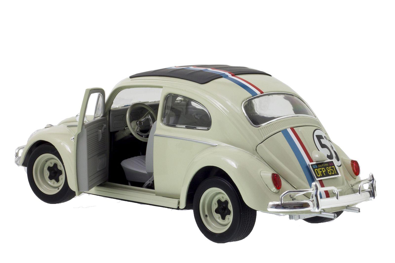 hotwheels 1 18 vw k fer beetle herbie the love bug hot. Black Bedroom Furniture Sets. Home Design Ideas