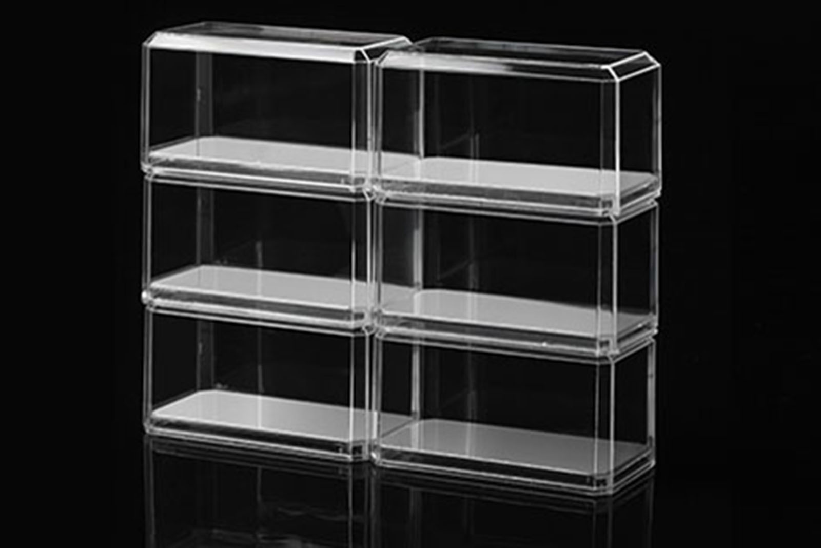 hochwertige acryl vitrine 1 15 1 18 1 24 1 43 1 64 mit 3m haftpads ebay. Black Bedroom Furniture Sets. Home Design Ideas
