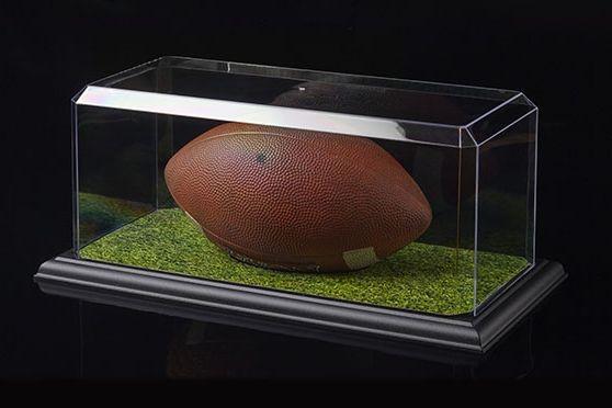 Pioneer Plastics - hochwertige Vitrine aus Acryl zum Sammeln und Verstauen eines Footballs, schwarz