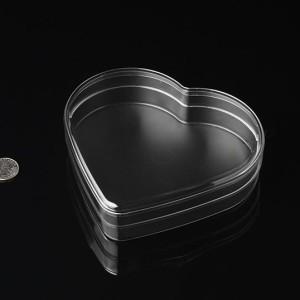 Pioneer Plastics - lebensmittelechte Kunststoffbox in Herzform, 15cm x 3,5cm