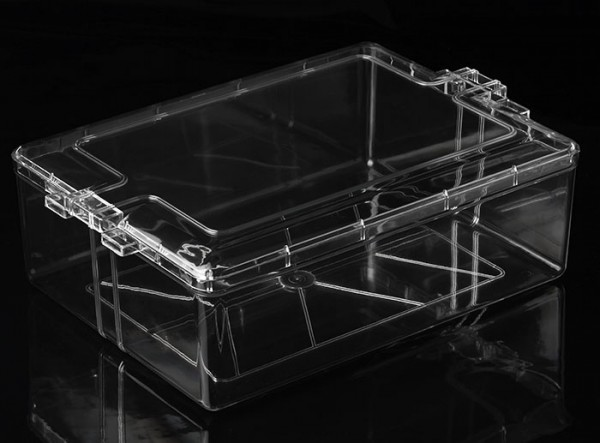 Eckige Kunststoffbox mit Stülpdeckel (Groß), 31cm x 23cm x 10cm