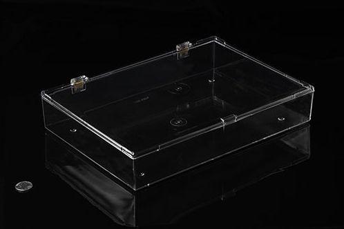 Eckige XXL Kunststoffbox mit Klappdeckel und Schnappverschluss, 33cm x 23cm x 5cm