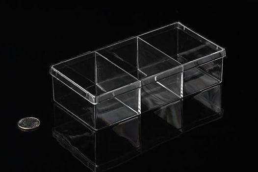 Kunststoffbox mit Unterteilungen, 17cm x 8cm x 4cm