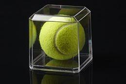 Pioneer Plastics - hochwertige Vitrine aus Acryl zum Sammeln und Verstauen eines Tennisballs, Einzel