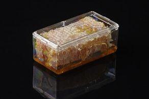 Pioneer Plastics - hochwertige, lebensmittelechte Kunststoffbox für Honigwaben, rechteckig