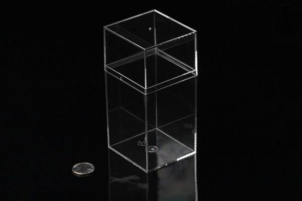 Eckiges Aufbewahrungsgefäß (hoch), 7cm x 6,7cm x 14,6cm