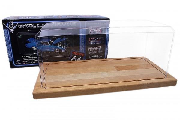Acryl Vitrine 1:18 für sehr große Modellautos mit Echtholzboden High Quality