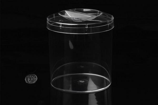 Runde Kunststoffbox mit Fingerspitzengriff, 13cm x 13cm