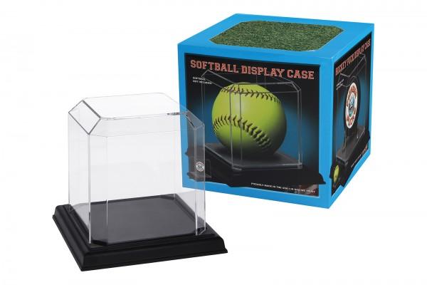 Pioneer Plastics - hochwertige Vitrine aus Acryl zum Sammeln und Verstauen eines Softballs, schwarz