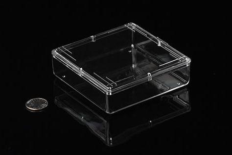 Pioneer Plastics - hochwertige, lebensmittelechte Kunststoffbox für Honigwaben, mit Dekordeckel
