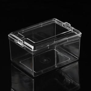Eckige Kunststoffbox mit Stülpdeckel (Klein), 19cm x 13,5cm x 9,5cm