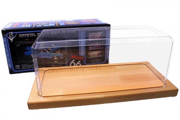 Vitrine 1:18 für Modellautos mit Echtholzboden High Quality Kristallklar